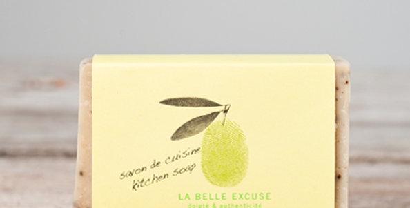 LA BELLE EXCUSE - Savon de cuisine Romarin, Citron & Café - 65gr