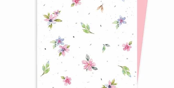 HOBEIKA ART - Carte plantable Motif Fleurs