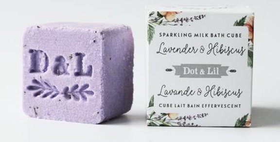 DOT & LIL - Cube lait de bain Lavande & Hibiscus