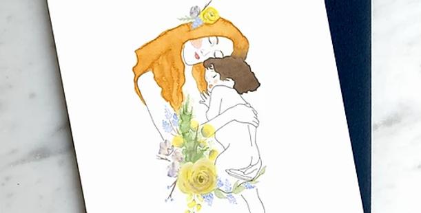 HOBEIKA ART - Carte Mère et enfant (KLIMT)