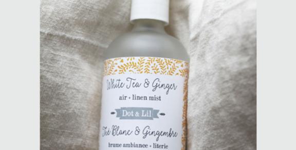 DOT & LIL - Brume d'ambiance + Literie Thé blanc et Gingembre