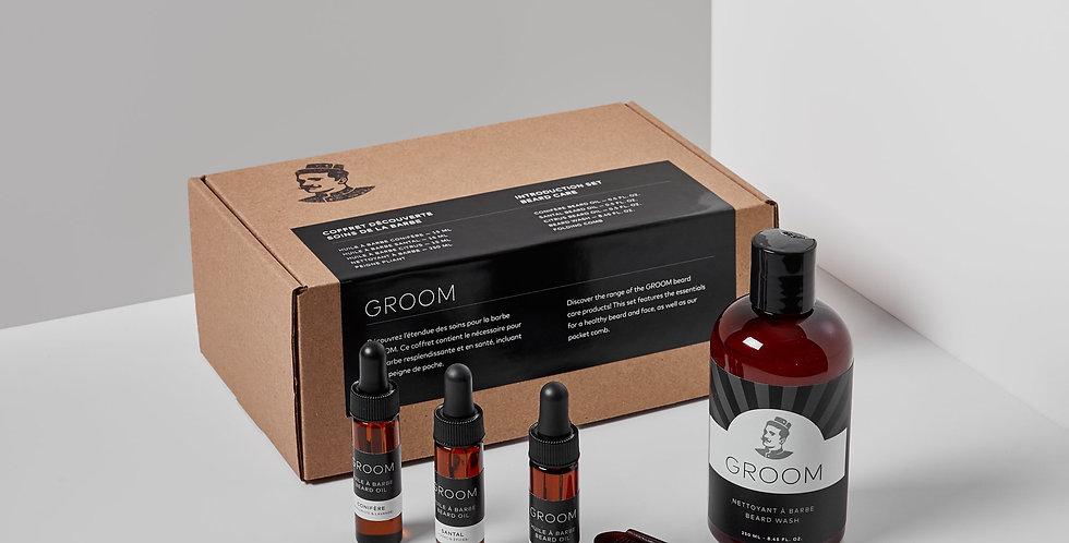 GROOM - Coffret découverte soins de la barbe