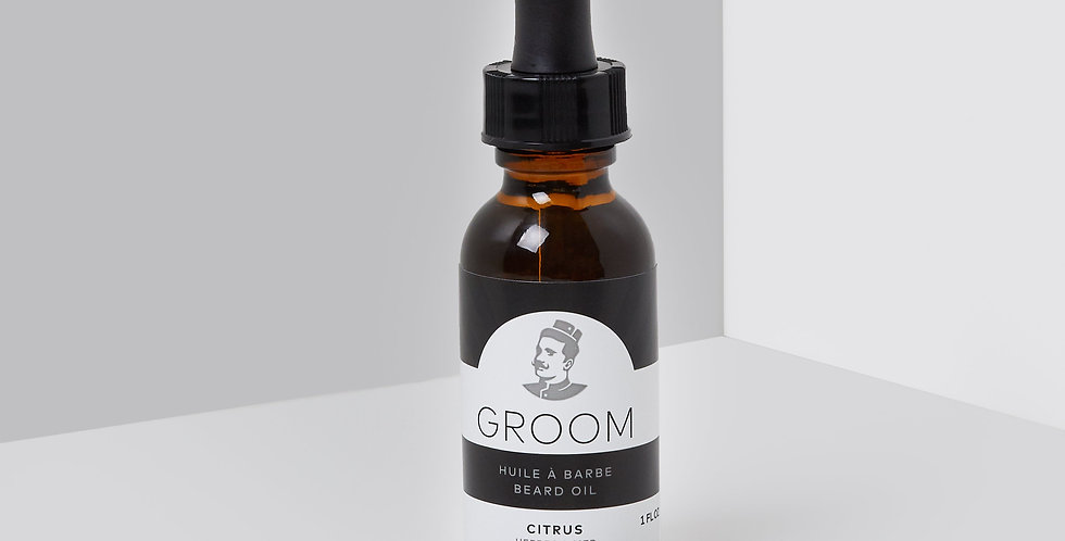 GROOM - Huile à barbe Citrus