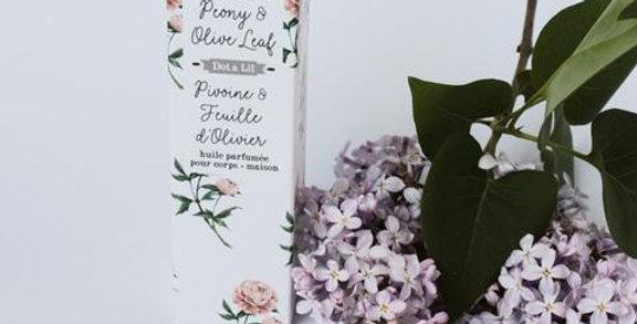 DOT & LIL - Huile parfumée Pivoine et Feuille d'olivier