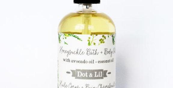 DOT & LIL - Huile pour le corps Chèvrefeuille
