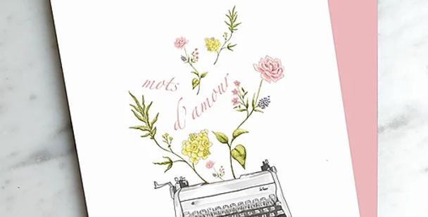 HOBEIKA ART - Carte Mots d'Amour