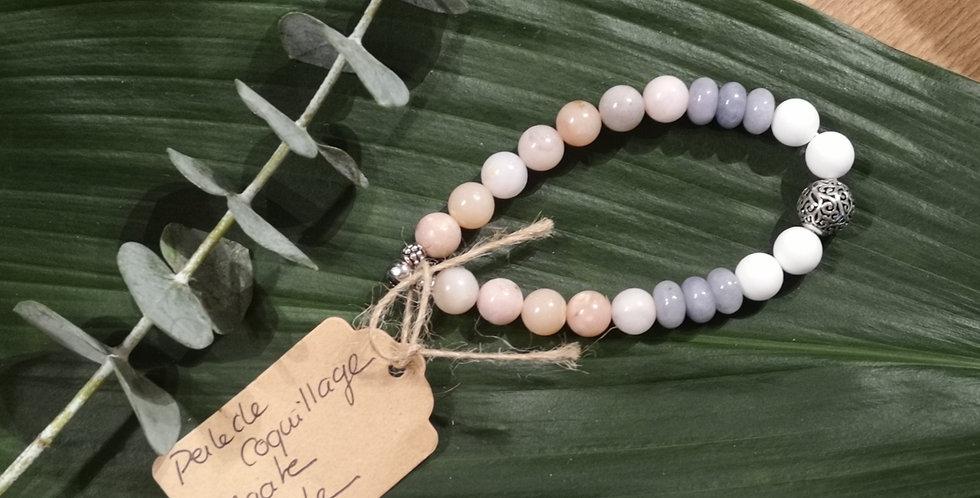 Mandalamaya - Bracelet Perle de coquillage, Agate, Opale