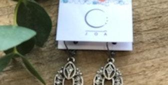 JOÂ - Boucles d'oreilles marqueterie, verre