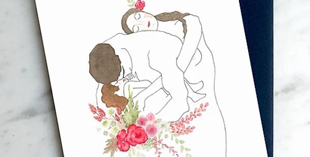HOBEIKA ART - Carte La famille (KLIMT)