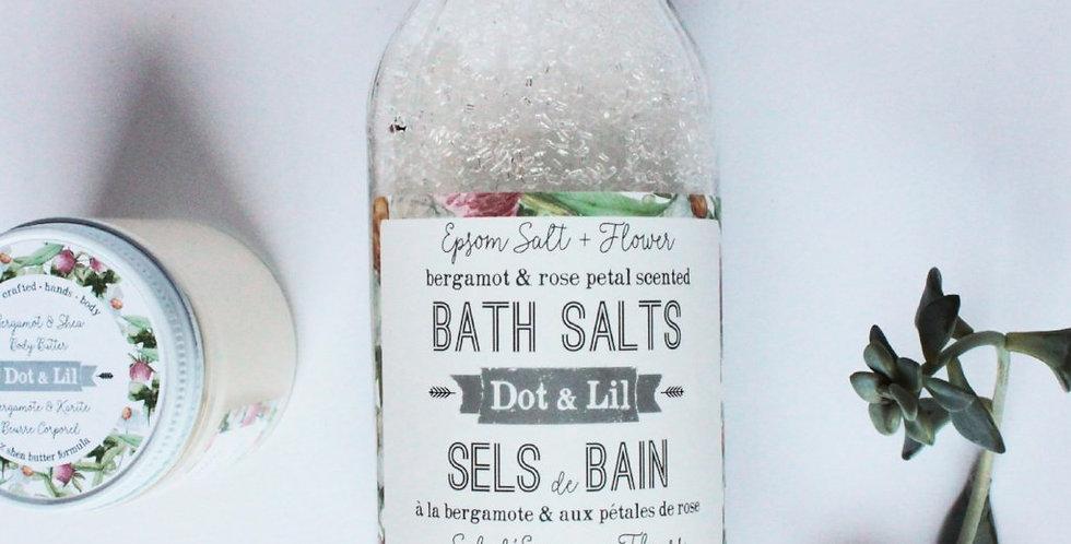 DOT & LIL - Sels de bain Bergamote et pétales de rose