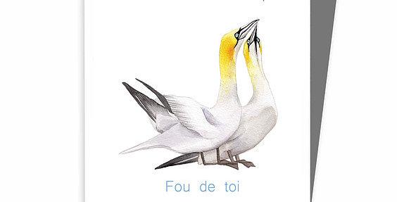 HOBEIKA ART - Carte Fou de toi