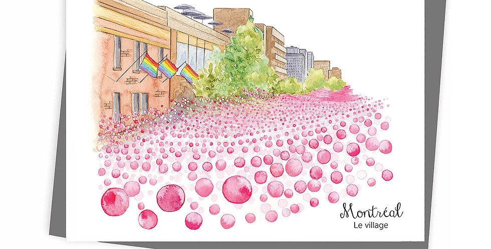 HOBEIKA ART - Carte Mtl Le Village