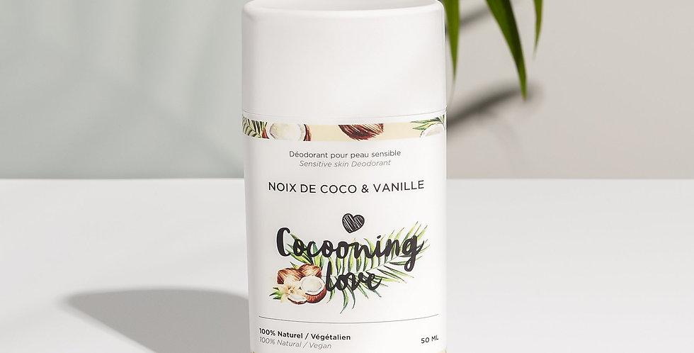 COCOONING LOVE - Déodorant Vegan Peaux Sensibles / Coco & Vanille