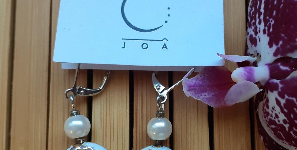 JOÂ - Boucles d'oreilles cloisonné et cristal swarovski