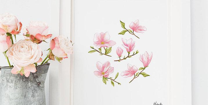 HOBEIKA ART - Affiche Magnolia