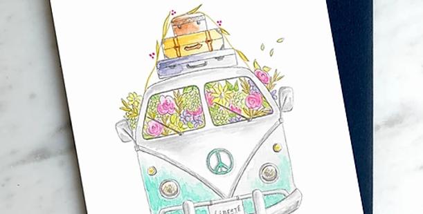 HOBEIKA ART - Carte Happy Van