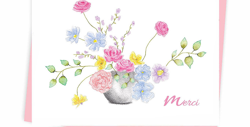 HOBEIKA ART - Carte Vase de fleurs