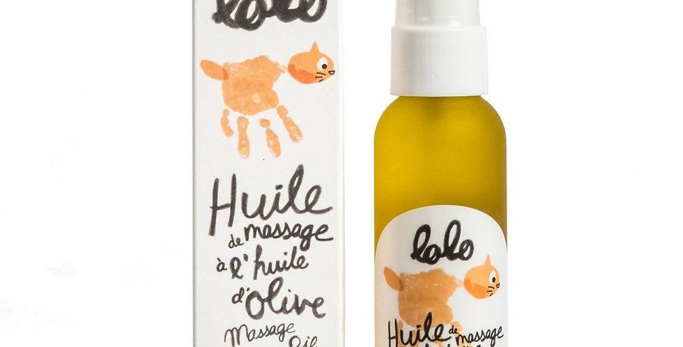 LOLO & MOI - Huile de massage à l'huile d'olive 60ml