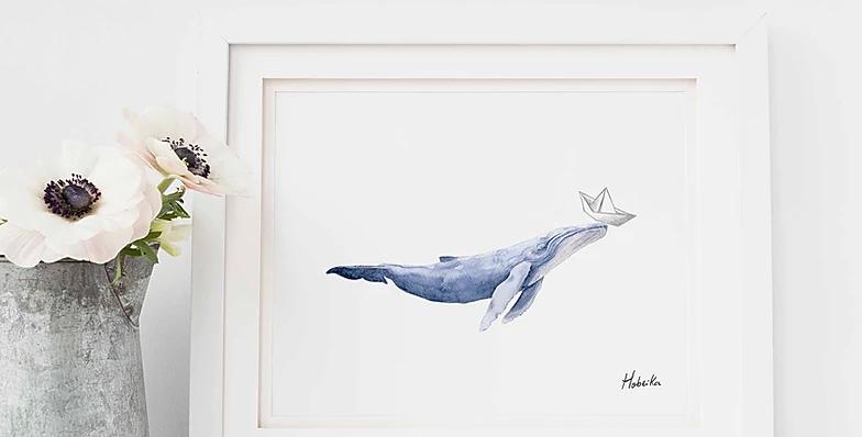 HOBEIKA ART - Baleine bleue