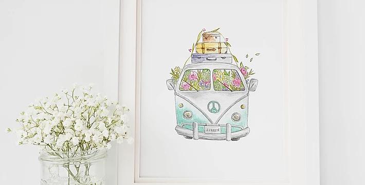 HOBEIKA ART - Happy van