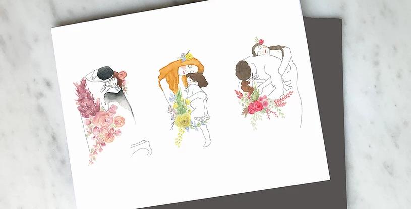HOBEIKA ART - Carte Trilogie klimt