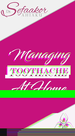 Managing at Home: Toothache