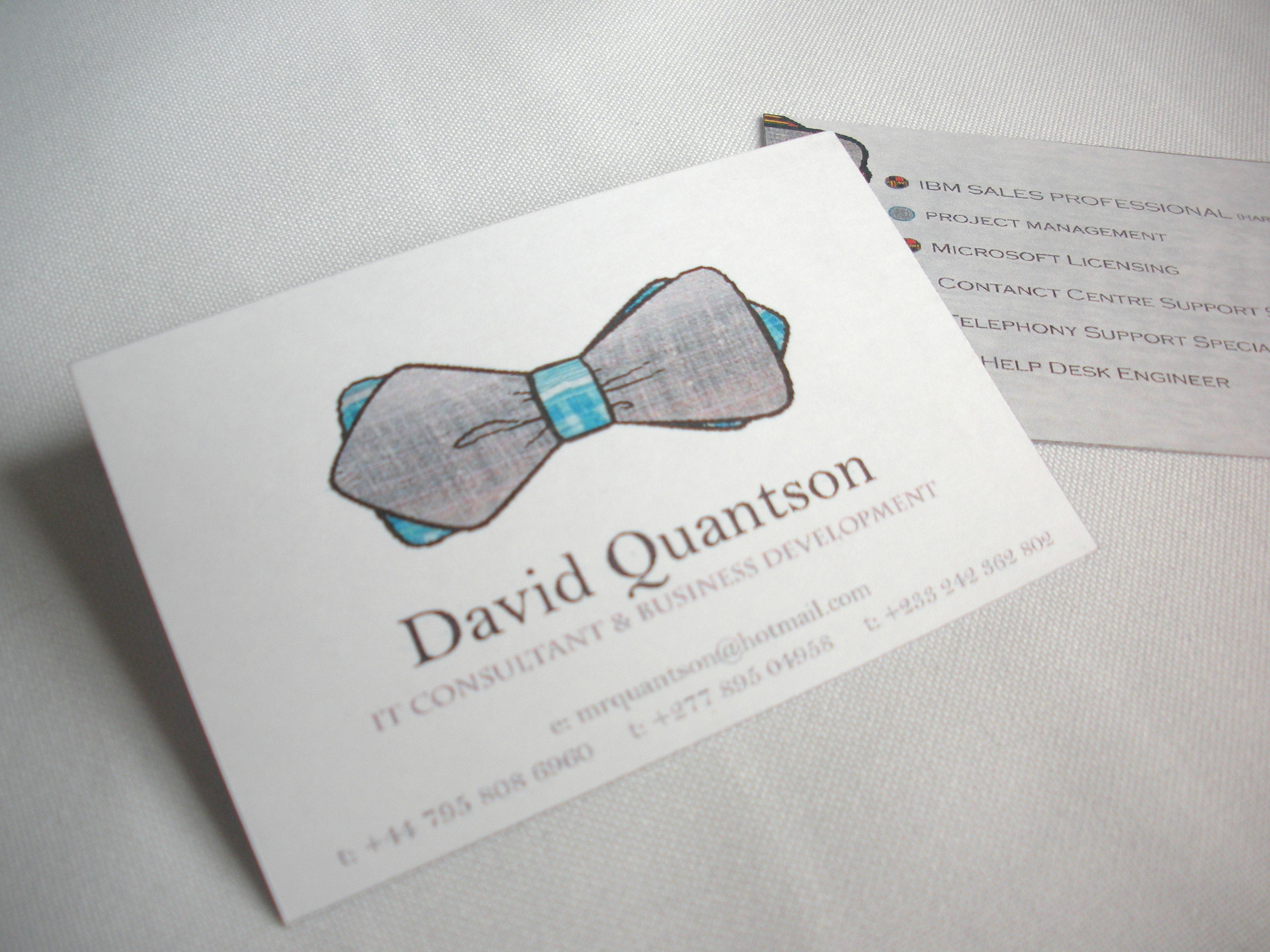 Mr Quantson's Business Cards