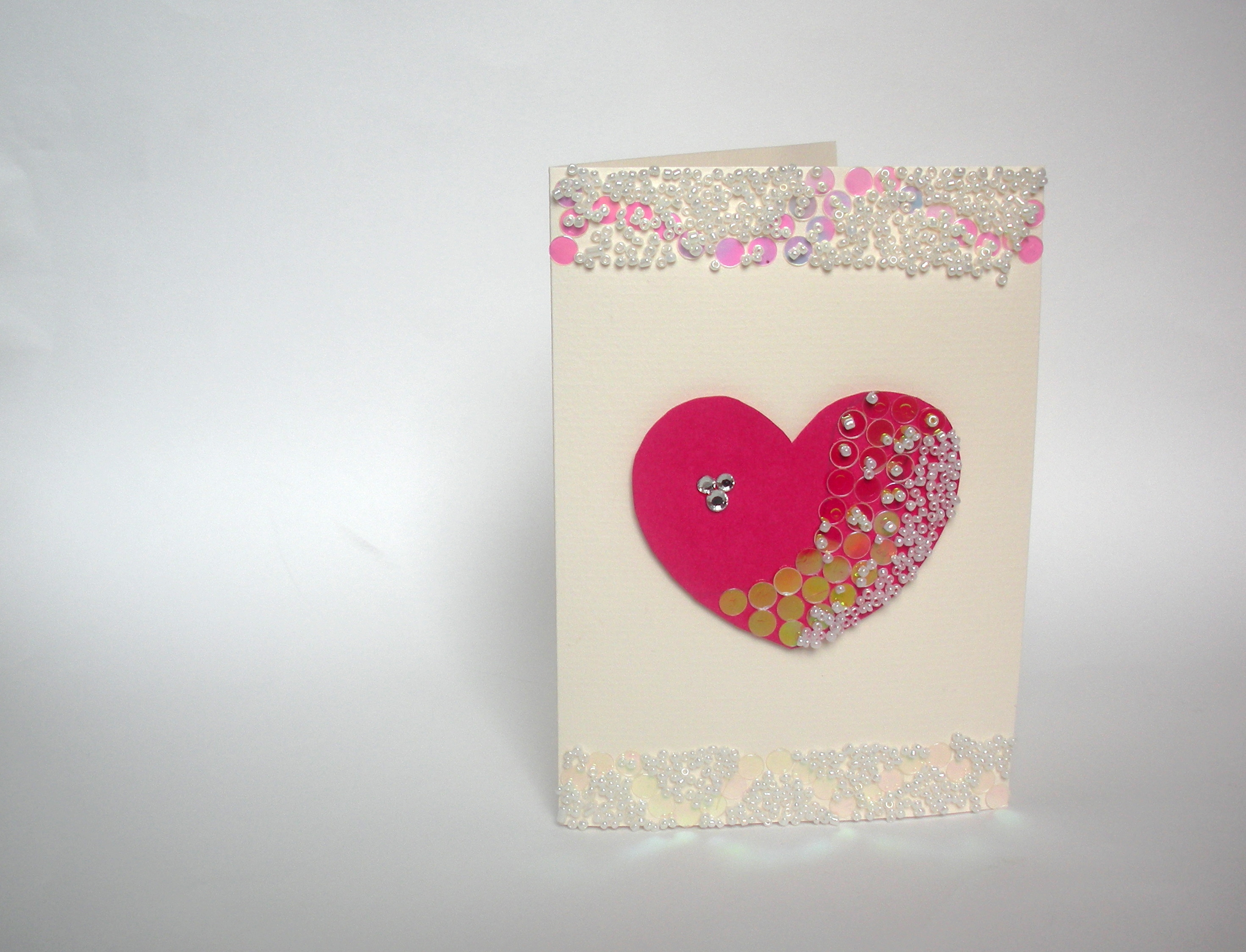 Relief Bead Valentine's Card