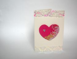Relief Bead Valentine's Card