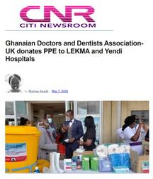 GDDA-UK Donates to Hospital in Ghana