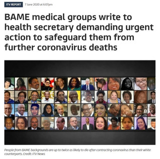 Our response to PHE's findings about Coronavirus in the BAME population