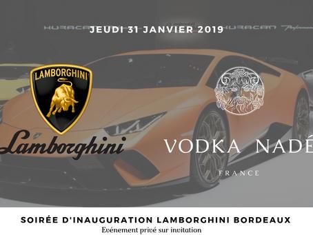 Lamborghini invite la Vodka Nadé !