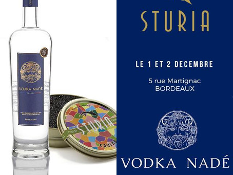 Accord Caviar Sturia et Vodka Nadé
