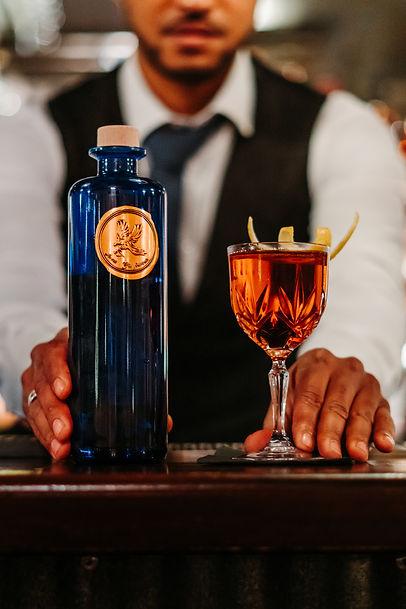 Gin Avem & son cocktail Negroni