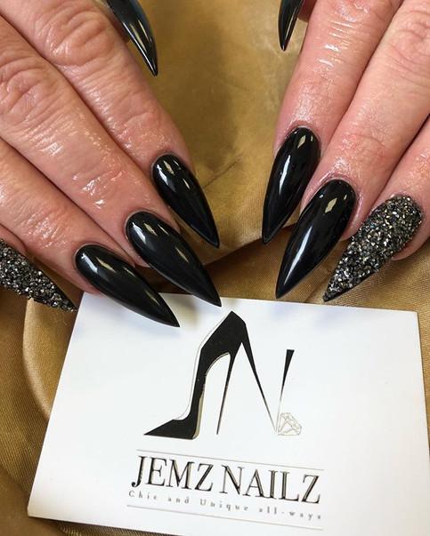 Black 😍 #jemzblack #blacknails #nails #