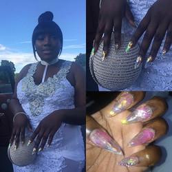 #jemzclients  #prom2016 #promnails #glassnails #nails #nailsdid #💁🏽 #jemzclientview