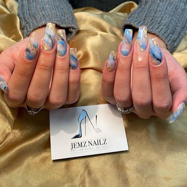 Glass Marble #glassmarble #marblenails #