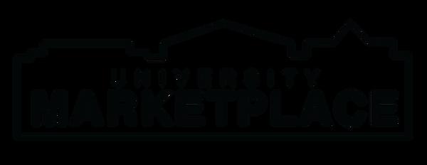 University Marketplace Logos blue and ma