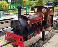 Hunslet steam loco cackler