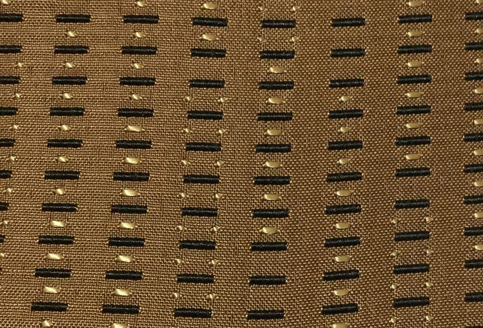 Brown With Woven Gold Dots