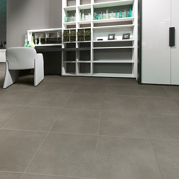 grey tile floor