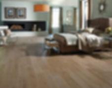 bedroom with engineed wood floor