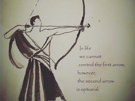 You can choose to not fire the second arrow