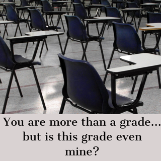 You are more than a grade... but is this grade even mine?