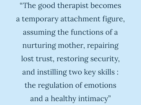 The therapeutic relationship is the catalyst of change