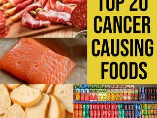 Top 20 Cancer Causing Foods