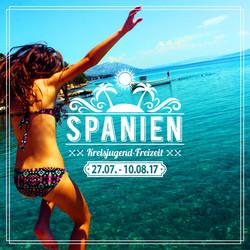 Freizeit Spanien 2017 Werbung Instagram