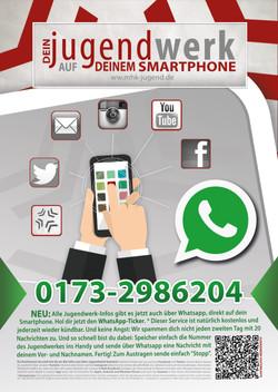 Plakat Werbung Whatsapp Jugendwerk