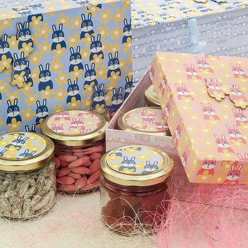 Bunny Box Blue & Pink