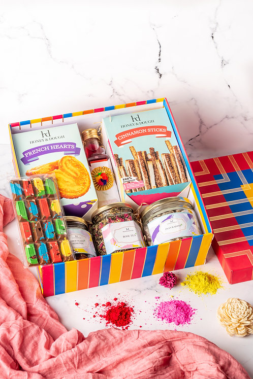 Large Stripes Holi Box
